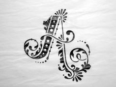 """Elaborate """"A"""";would use this as inspiration for an entire alphabet Calligraphy Letters, Typography Letters, Caligraphy, Penmanship, Creative Lettering, Lettering Design, Decorative Lettering, Vintage Lettering, Letras Cool"""