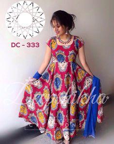 Jenny Creation Pink And Multi Banglori Silk Anarkali Salwar Kameez Suit Kalamkari Designs, Churidar Designs, Indian Attire, Indian Outfits, Indian Wear, Kalamkari Dresses, Kalamkari Kurti, Mode Simple, Indian Gowns Dresses