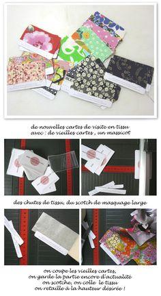 check-list et cartes de visite en tissu #mespetitesmainsmagazine