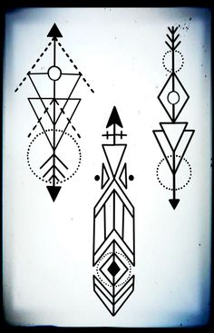 A few geometric arrow tattoo designs by me