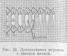Вышевка Мережка с цветной ниткой