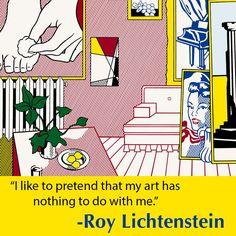 """Roy Lichtenstein. Artist's Studio """"Foot Medication"""", 1974. Gift of Edlis/Neeson Collection. © Roy Lichtenstein Foundation."""