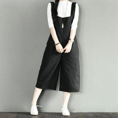 Black Overalls Skirt Women Clothes
