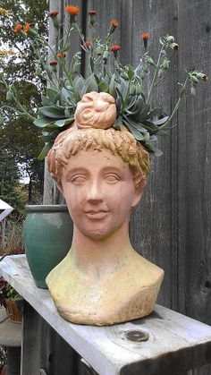 Head Planter | Head Planters | Pinterest | Head Planters, Planters And  Gardens
