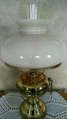 Farmhouse Chic Floral Motif Clear Frosted Glass Pattern Shade Converted Oil Lamp Antiques Lamps