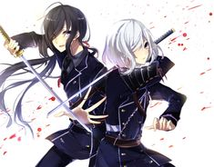 Namazuo Toushirou and Honebami Toushirou :3
