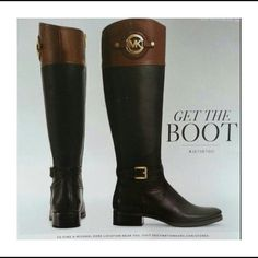 Michael Kors two toned riding boots