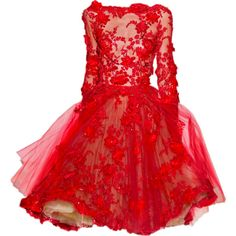 Satinee's collection - Haute couture 2012 ❤ liked on Polyvore featuring dresses, gowns, vestidos, short dresses, mini dress, red evening dresses, red ball gown and red gown