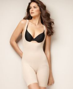 995ae4e1f3f12 Naomi   Nicole Firm Control Unbelievable Comfort Long Leg Open Bust Body  Shaper 7071 Women - Shapewear - Macy s
