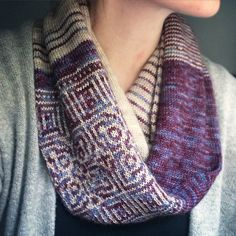 Circadian Cowl pattern by Erica Heusser available on Revelry and Etsy!