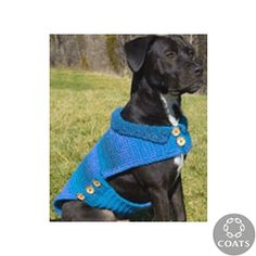 """""""Dog's Crochet Cardigan"""" Crocheted Pet Dog Pattern by Coats and Clark - FREE Crochet Pattern - Planet Purl"""
