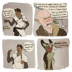 First of all Dorians pose xD second, why do they have to be so mean to Solas?! Oh I love Dorian so so much