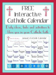 January Catholic Family Calendar