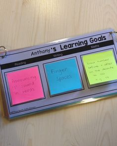 "Claire Kenway on Instagram: ""Absolutely LOVE this Learning Goals template from @missjacobslittlelearners! It comes as an editable document so you can choose which…"""