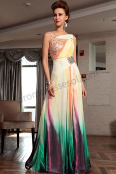 Colorful Sleeveless Silk Quinceanera Dress 2013