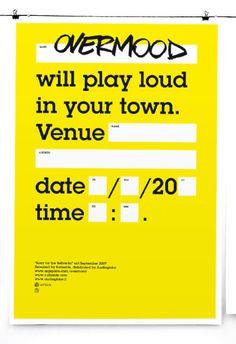 Flyer, poster, banner (music) by Matteo Cellerino, via Behance