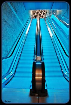 Surprisingly beautiful escalator photography!