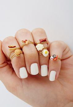 Food Midi Rings! | FOREVER21