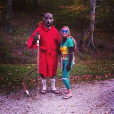 Create your Master Splinter costume with burlap from Walmart ...