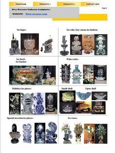 Ross Navarro Culinary Sculptures - Niagara falls Ice Sculptures Catalog.