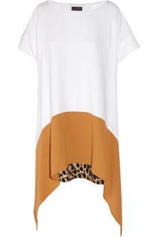 Just Cavalli|Paneled crepe dress|NET-A-PORTER.COM - StyleSays