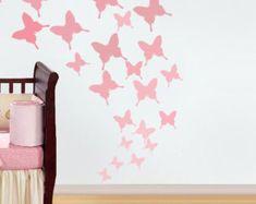 Butterfly Stencil, nursery decor, nursery stencil, butterfly wall art, painting stencil, wall stencil, stencils, paint Nursery butterfly