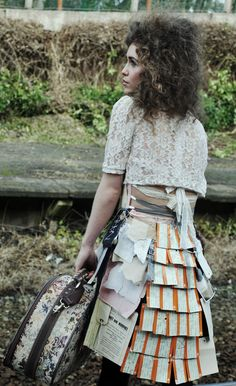 Modelled by Rae Morris Rae Morris, Lace Skirt, Midi Skirt, Train Tickets, Year 2, Ephemera, Journey, Collections, Textiles