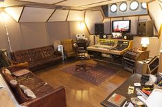 Control Room at The Lightship95 Recording Studio featuring an API 1608 Mixing Desk.