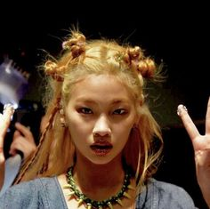 Hairstyles With Bangs, Pretty Hairstyles, Hair Inspo, Hair Inspiration, Short Grunge Hair, Alternative Makeup, Aesthetic Hair, Green Hair, Looks Cool
