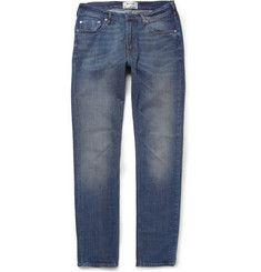 Acne StudiosAce Slim-Fit Washed-Denim Jeans.  270