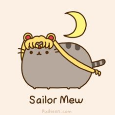 Liz posted Pusheen the cat ~ Sailor Mew ~ Sailor Moon to their -Ha- postboard via the Juxtapost bookmarklet. Sailor Moon S, Sailor Moon Crystal, Sailor Neptune, Sailor Moon Funny, Sailor Moon Tumblr, Gato Pusheen, Pusheen Love, Crazy Cat Lady, Crazy Cats