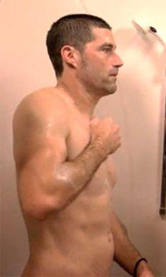 Matthew Fox in the shower