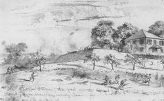 Edwin Forbes Civil War Drawings   EDWIN FORBES ILLUSTRATION OF THE EIGHTEENTH CORPS STORMING DIMMOCK ...
