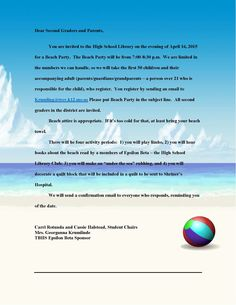essay about beach party For a beach party you pretty much just need to choose a beach and tell everybody to come on a certain date and at a certain time you can ask people to bring food and.