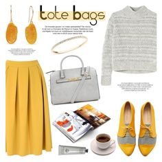 """""""Tote Bags"""" by littlehjewelry ❤ liked on Polyvore featuring Glamorous, Rebecca Taylor, Bobbi Brown Cosmetics, women's clothing, women's fashion, women, female, woman, misses and juniors"""