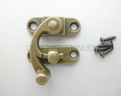 2Pcs 55mm x 47mm Vintage style small box hardware lock latch