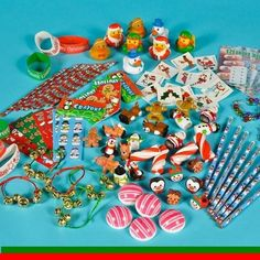 50 Christmas Toys and Novelties 50 pieces of great assorted Christmas holiday theme toys and novelties these will make awesome Christmas party handouts and stocking stuffers assortment varies by bag,. Christmas Toys, Christmas Stockings, Christmas Holidays, Holiday Themes, Holiday Decor, Rhode Island Novelty, Christmas Stocking Stuffers, Party Supplies, 50th