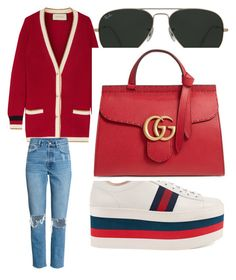 """Filled with comfort"" by nkotovic on Polyvore featuring Gucci and Ray-Ban"