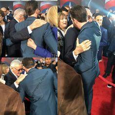 Chris Evans and Stan Lee at the #captainamericapremiere