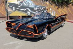 """""""Holy one of one, Batman! They're selling your car at Barrett-Jackson!""""The 1955 Lincoln Futura concept car that was heavily modified by George Barris to become the 1966 TV Batmobile will . Original Batmobile, Batman Batmobile, Ford Mustang, Lincoln, Weird Cars, Cool Cars, Crazy Cars, Batman Auto, Sport"""