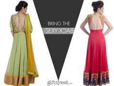 This festive season bring the sexy back #glitstreet #glitstreetloves #sexyback #fashion #designer #designerwear  #indianfashion #anarkalis #festive #diwali   Shop now -www. Glitstreet.com