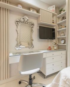 Image may contain: indoor Clean Bedroom, Home Bedroom, Bedroom Decor, Decor Interior Design, Interior Design Living Room, Living Room Decor, Pinterest Room Decor, Cool Kids Bedrooms, Studio Apartment Decorating