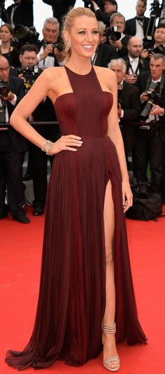 Blake Lively in Gucci Premiere attends the 'Grace of Monaco' premiere during the 2014 Cannes Film Festival. #bestdressed