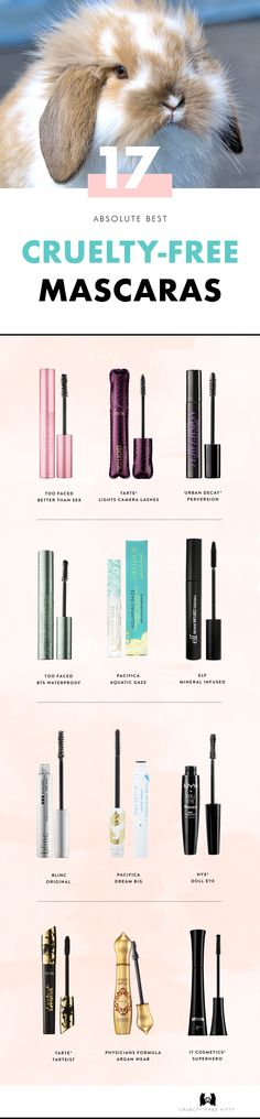 The best cruelty-free mascaras with vegan options. Click for the full list!