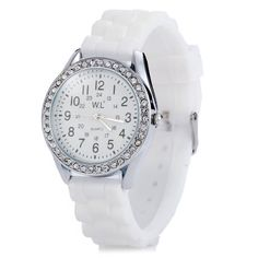 WL Candy Colors Ladies Quartz Watch with Round Dial Rubber Band #>=#>=#>=#>=#> Click on the pin to check out discount price, color, size, shipping, etc. Save and like it!