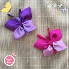Diy Crafts Hacks, Diy Crafts For Gifts, Felt Crafts, Making Hair Bows, Diy Hair Bows, Diy Ribbon, Ribbon Bows, Baby Girl Hair Clips, Crochet Case