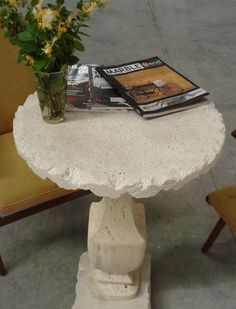 Travertine coffee tabletop antiquated