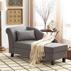 Found it at Wayfair - Verona Storage Chaise Lounge Diy Sofa, Sofa Design, Chaise Lounge Bedroom, Lounge Chairs, Dining Chairs, Bedroom Seating, Bedroom Sofa, Bag Chairs, Office Chairs