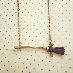 Broomstick Quidditch Necklace Harry Potter Inspired Handmade SHIPS FROM USA You will receive one handmade necklace with a flying broomstick charm. Chain measures 18, but you may request a different length that you would prefer! Would make a neat gift for any Potter fan! Thank you for looking!