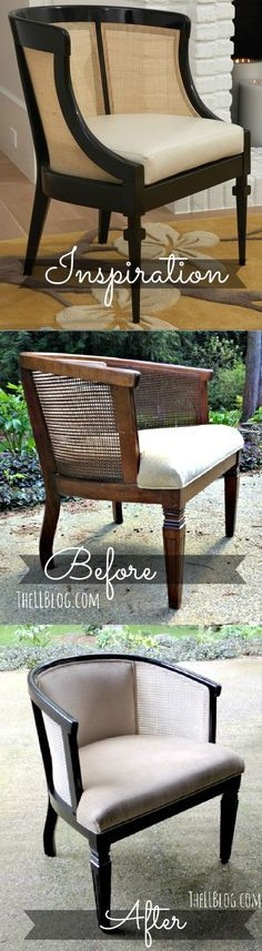 Before And After DIY Reupholstering Furniture Ideas